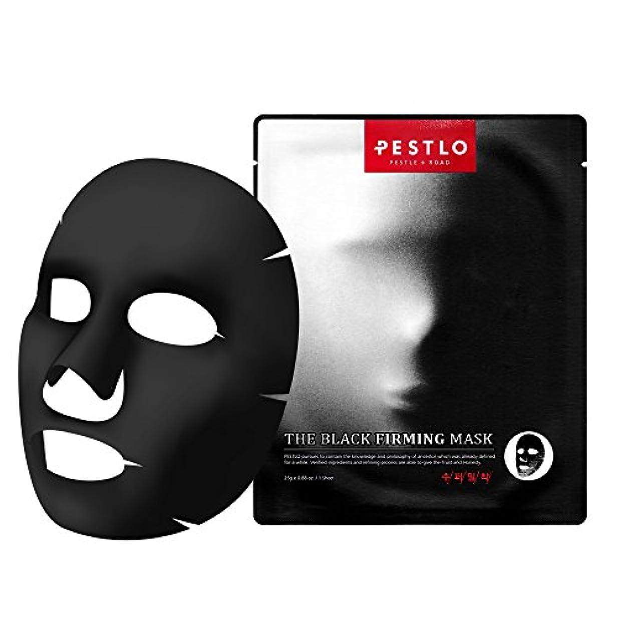 叙情的なまだかまどPestlo The Black Firming Mask 【ペスロザブラックファーミングマスク】 - モイスチャ アンチエイジング 老化防止 抗酸化効果 透明スキンケア 韓国コスメ 1シート / 25g