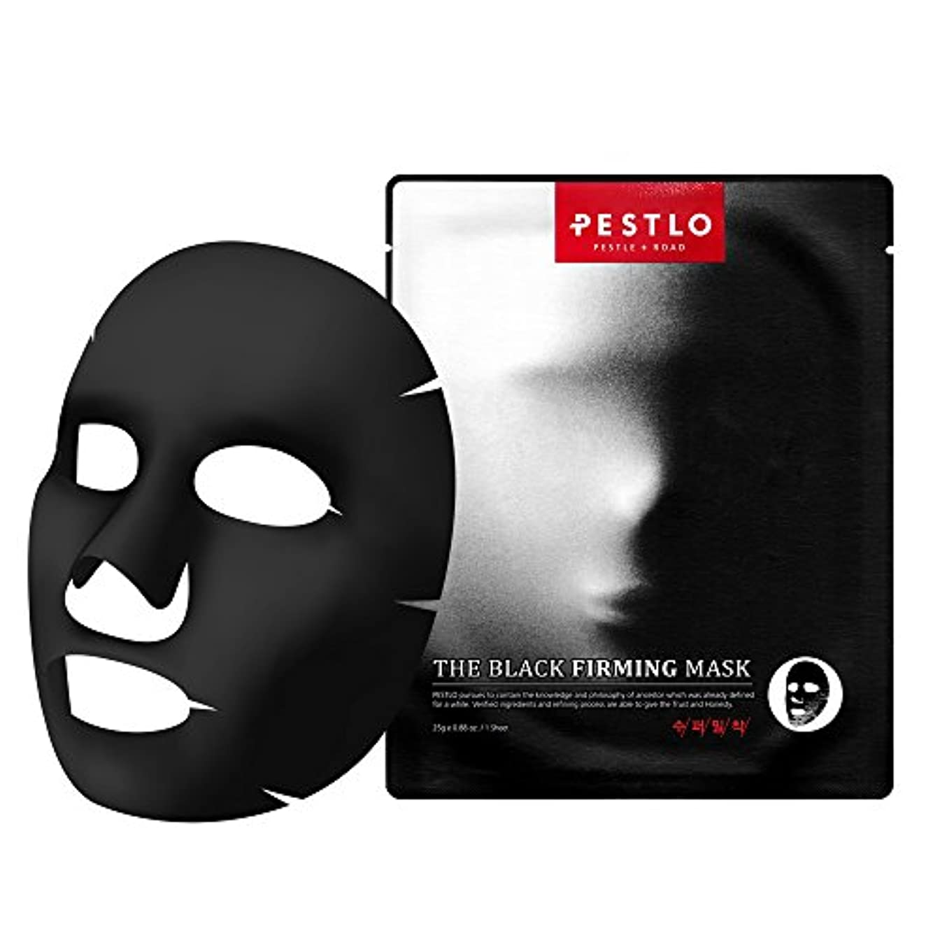 Pestlo The Black Firming Mask 【ペスロザブラックファーミングマスク】 - モイスチャ アンチエイジング 老化防止 抗酸化効果 透明スキンケア 韓国コスメ 1シート / 25g