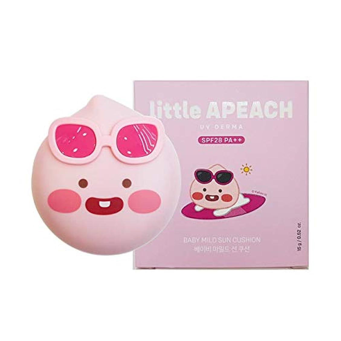 椅子薄いです獣[ザ?フェイスショップ] THE FACE SHOP [リトル アピーチ UVデルマ ベイビーマイルド サンクッション  15g] little APEACH UV DERMA Baby Mild Sun Cushion...