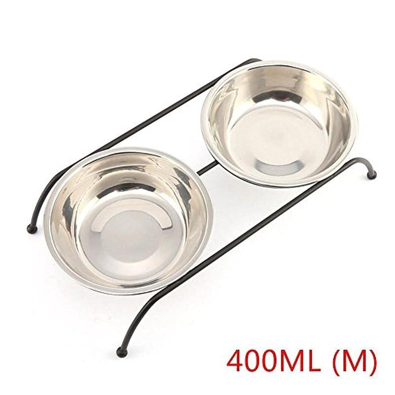 Newfashion 犬用食器 ボウル えさ皿 ペットボウルスタンドセット 餌 水 食事台 ペット用品