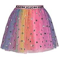 JoJo Siwa Rainbow Big Girls Tulle Mesh Skirt with Elastic Waist and Stars 10/12