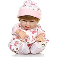 baynne 27 cm SleepingバッグSmile Baby GirlシリコンブラックBoy Lifelike新生児人形