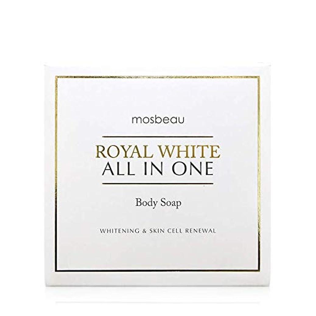 お香打撃債務mosbeau ROYAL WHITE ALL-IN-ONE BODY SOAP 100g ロィヤルホワイトオールインワンボディーソープ