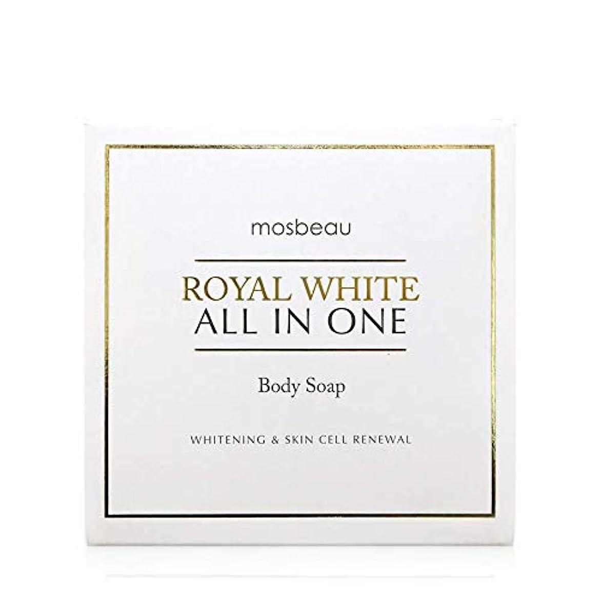精巧な写真を撮るシェルmosbeau ROYAL WHITE ALL-IN-ONE BODY SOAP 100g ロィヤルホワイトオールインワンボディーソープ
