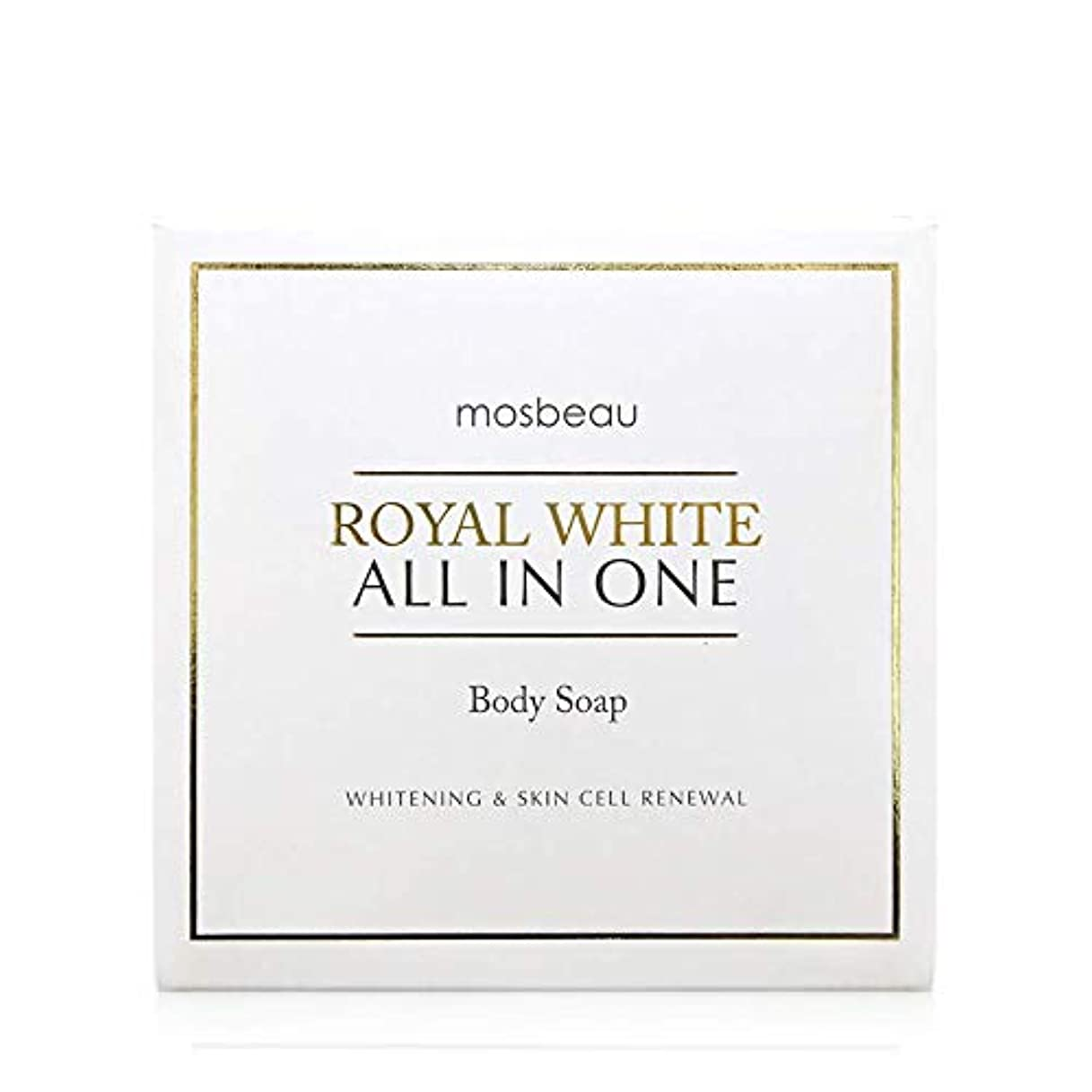 ピース重要知るmosbeau ROYAL WHITE ALL-IN-ONE BODY SOAP 100g ロィヤルホワイトオールインワンボディーソープ