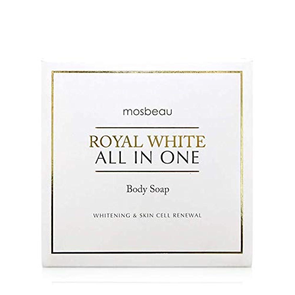 青サッカーワンダーmosbeau ROYAL WHITE ALL-IN-ONE BODY SOAP 100g ロィヤルホワイトオールインワンボディーソープ