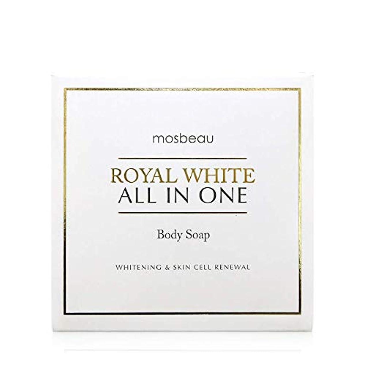 オフセット静脈残基mosbeau ROYAL WHITE ALL-IN-ONE BODY SOAP 100g ロィヤルホワイトオールインワンボディーソープ