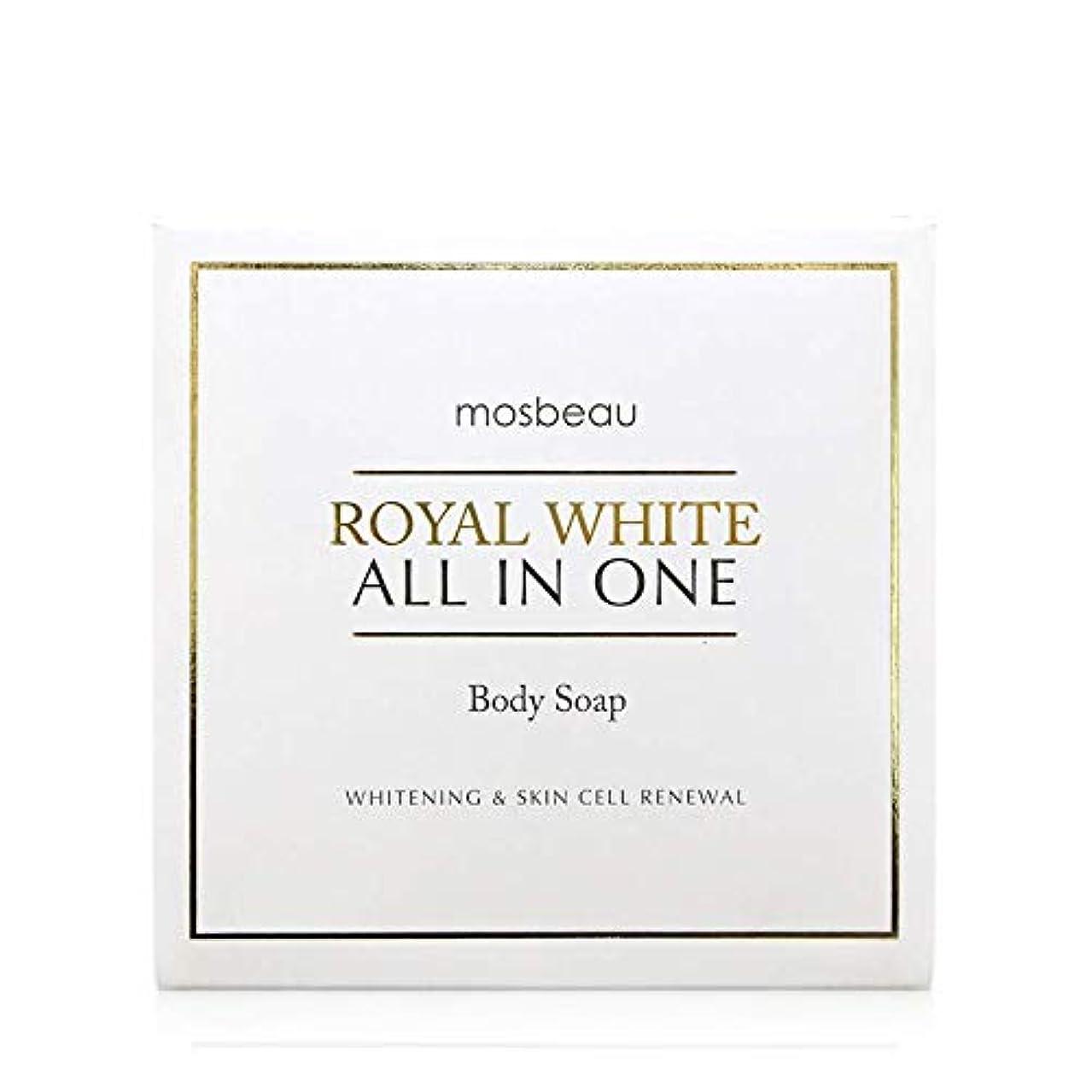 きらめき部門混沌mosbeau ROYAL WHITE ALL-IN-ONE BODY SOAP 100g ロィヤルホワイトオールインワンボディーソープ