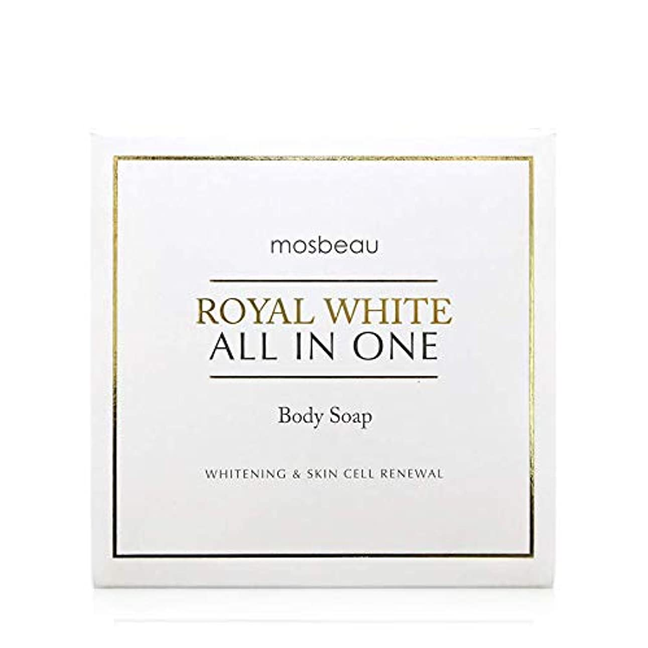 展望台ベスト正義mosbeau ROYAL WHITE ALL-IN-ONE BODY SOAP 100g ロィヤルホワイトオールインワンボディーソープ