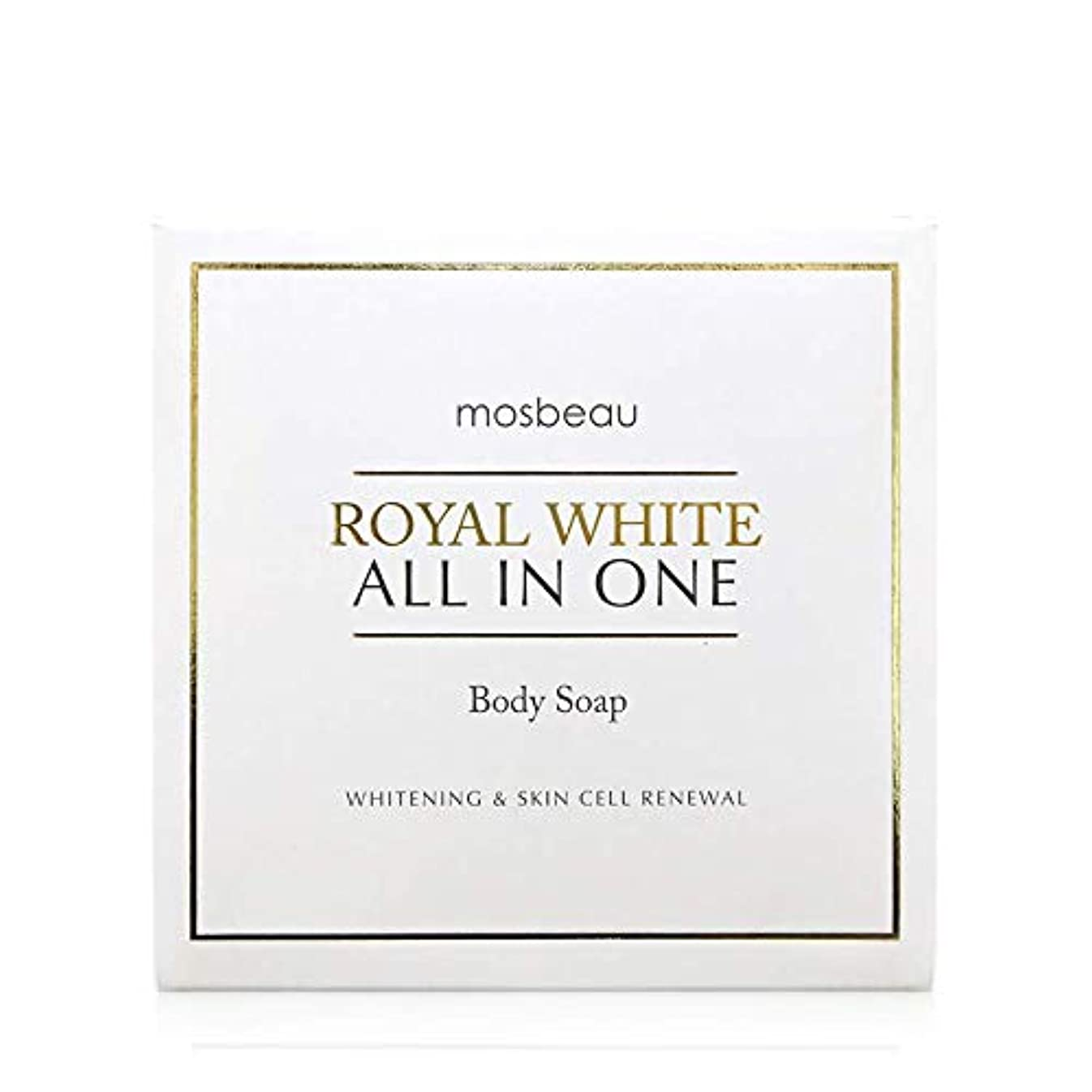 乱闘トロピカルコーンmosbeau ROYAL WHITE ALL-IN-ONE BODY SOAP 100g ロィヤルホワイトオールインワンボディーソープ