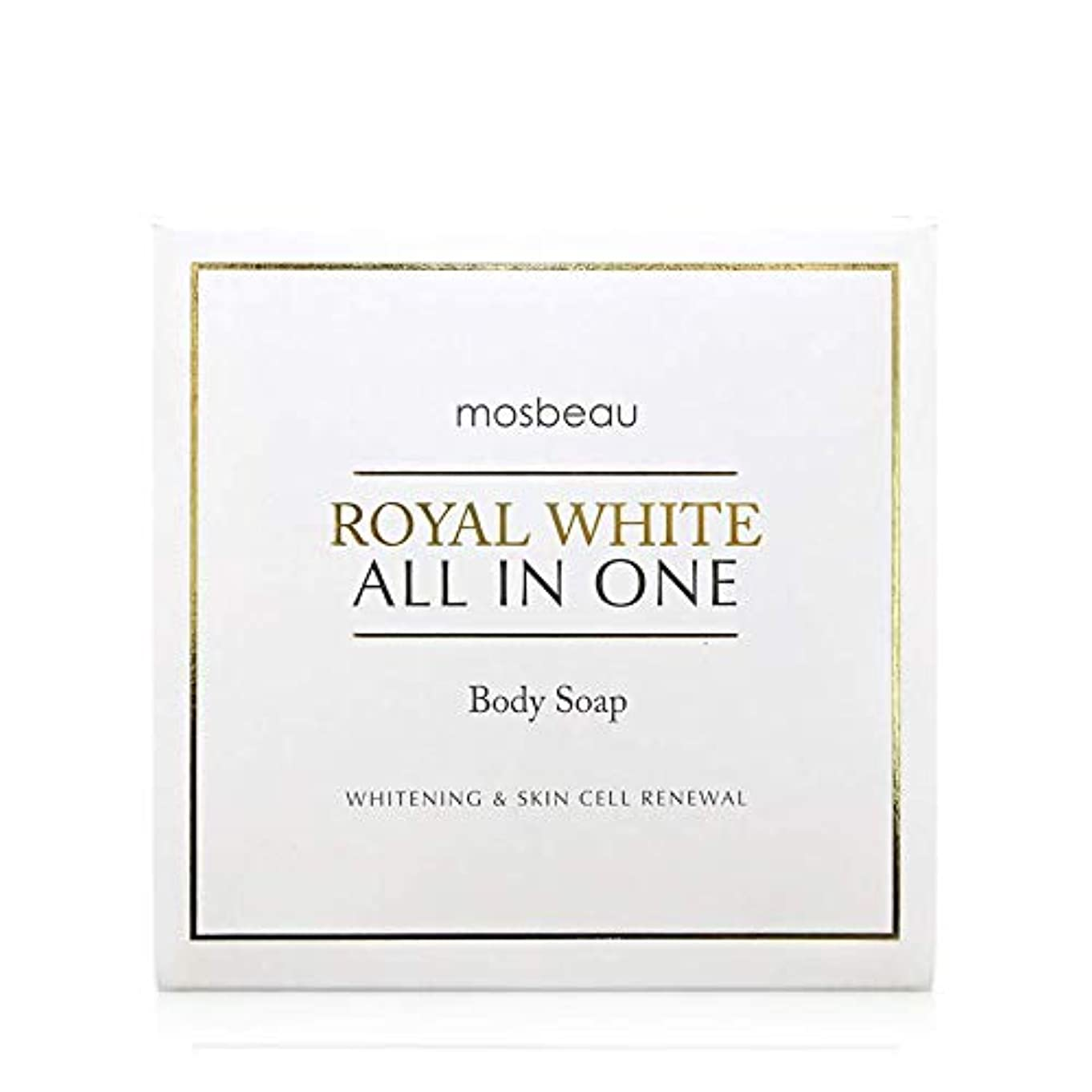 ドライブ提供する地殻mosbeau ROYAL WHITE ALL-IN-ONE BODY SOAP 100g ロィヤルホワイトオールインワンボディーソープ