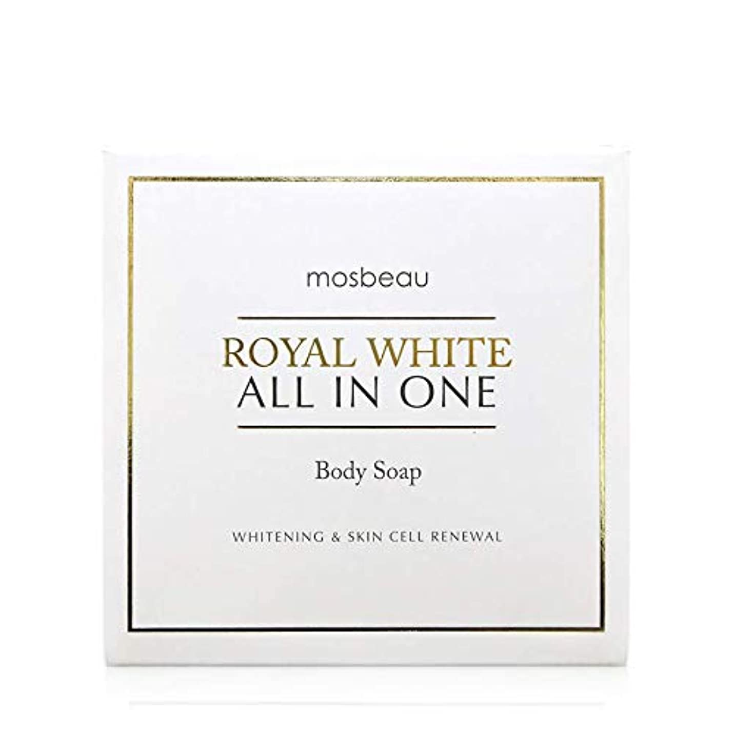 見出し絵熟読mosbeau ROYAL WHITE ALL-IN-ONE BODY SOAP 100g ロィヤルホワイトオールインワンボディーソープ