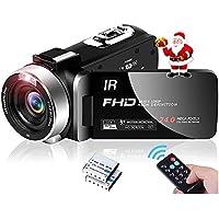 ビデオカメラ ハンディーカム ビデオカムコーダー ポータブルビデオカメラ フルHD 1080P 30 FPSナイトビジョ…