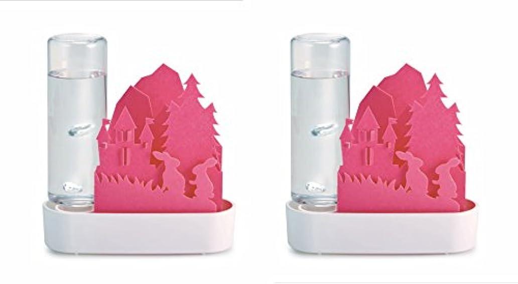 弾薬謎トライアスリート積水樹脂 自然気化式ECO加湿器 うるおいちいさな森 ウサギPK ピンク お徳用2個セット