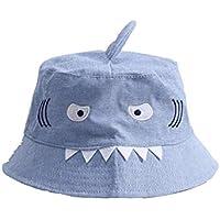 Toddler Hat Creative Kids Shark Bucket Hat Children Packable Soft Cap Sun Visor for 1-6 Years Old Baby Cap