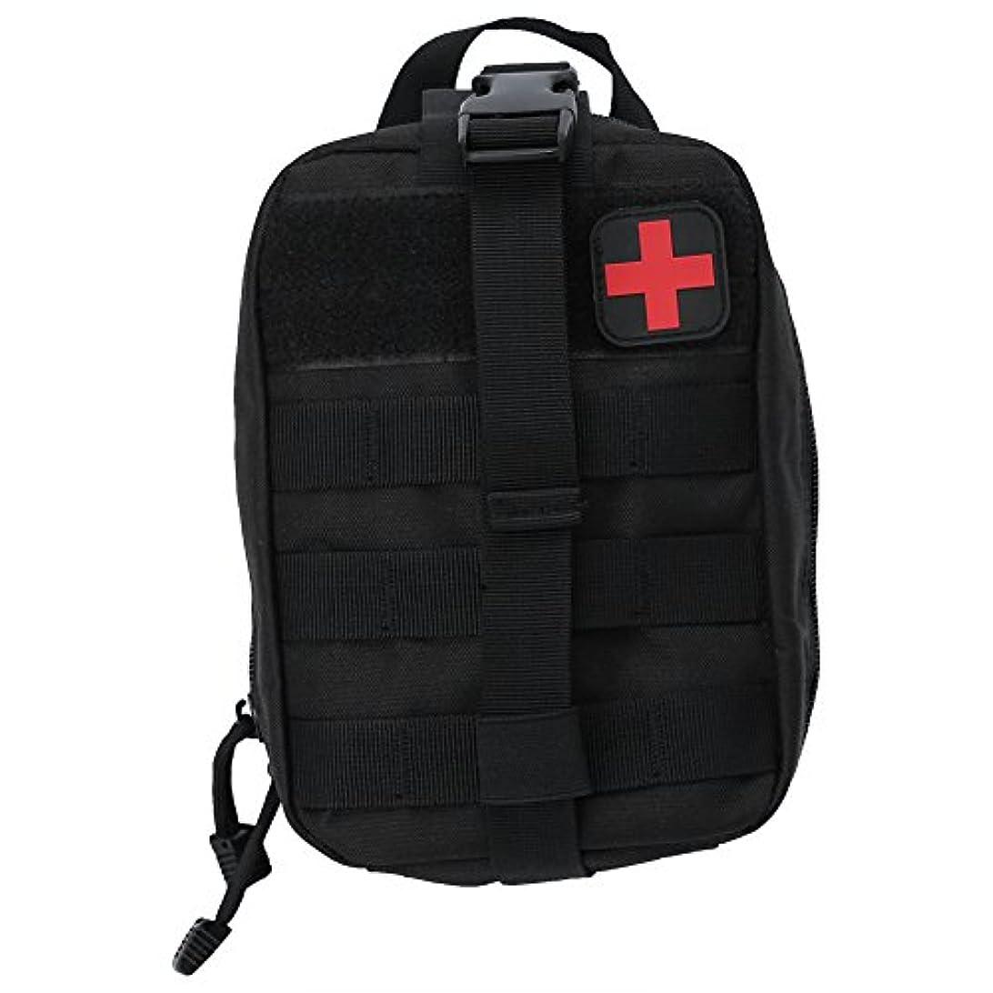 実証する恒久的事前に医療バッグ メディカル 救急バッグ 緊急ポーチ サバイバル 応急処置用 耐久性 防水 救急バッチ付き 学校 車 旅行 オフィス 登山 防災 救急用