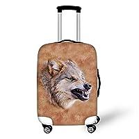 ThiKin スーツケースカバー 防水 洗える おしゃれ 伸縮素材 ラゲッジカバー luggage cover 動物 柄 弾性設計 防塵 旅行 高品質 キャリーカバー 保護 トランクカバー S M Lサイズ
