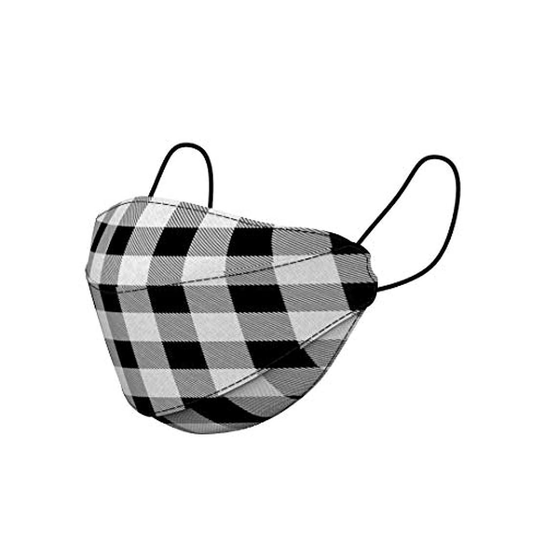 誤解させる占めるサッカーGAZE Fashion MASK マスク ふつうサイズ 30枚入 (Checkers)