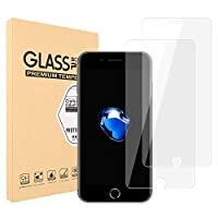 【2枚セット】Tanhoo iPhone8/7/6 ガラスフイルム 強化ガラス ラウンドエッジ加工/業界最高硬度9H/高透過率/3D Touch対応/自動吸着/気泡ゼロ アイフォン8/7 6 ガラスフィルム 強化ガラス 液晶保護フィル 全面フルカバー 4.7インチ対応 (透明)0.3mm