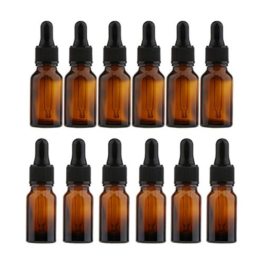 導入するこどもセンター六分儀FLAMEER ガラス瓶 空ボトル 液体容器 ドロッパー 小分け容器 化粧品 香水 精油 携带用 10ml/15ml 12個入