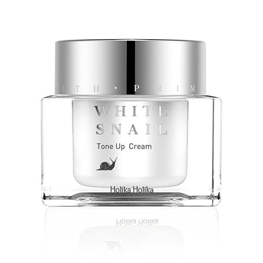 厳驚くべき敵意HolikaHolika(ホリカホリカ) Prime Youth White Snail Tone-Up Cream プライムユースホワイトスネイルトーンアップクリーム カタツムリ エスカルゴ [並行輸入品]