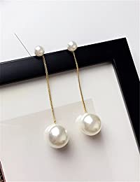 Creative Lady Exaggerated Size Pearl Earrings earings Dangler Eardrop Unique Fashion Long Tassel Ear Jewelry Women Girls pop