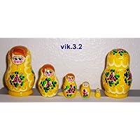 Russian Nesting Doll * 5 Pcs / 3 In - 8 cm (baby doll - 15mm) * vik.3.2