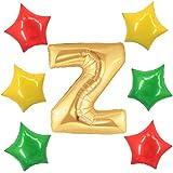 アドワン 数字 風船 バルーン 飾り付け 誕生日 ゴールド 大きい 数字1~9 文字 記念日 お祝い (Z)