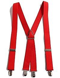 QUINTETTO 太型 30mm X型 ベーシック無地 サスペンダー 吊りバンド ズボン吊り メンズ レディース ブレイシーズ 03-0133