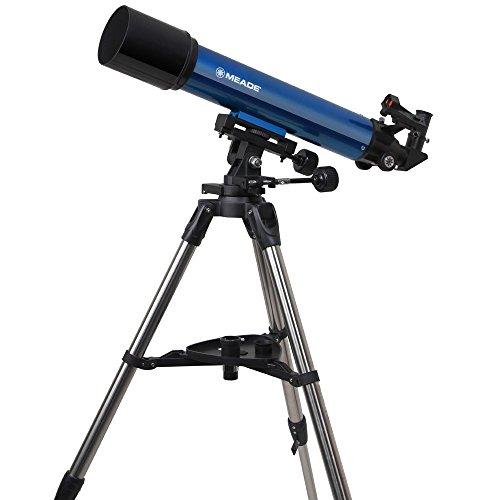 MEADE 天体望遠鏡 AZM-90 星空散歩ライトII 観測キット アクロマート 口径90mm 焦点距離600mm 屈折式 ブルー 003459