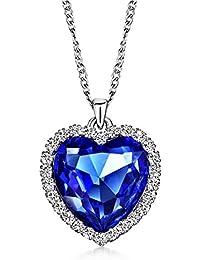 (ネオグロリー)Neoglory Jewelry タイタニック 碧洋のハート ファッション 人気 レディース  クリスタル  ハート ペンダントネックレス