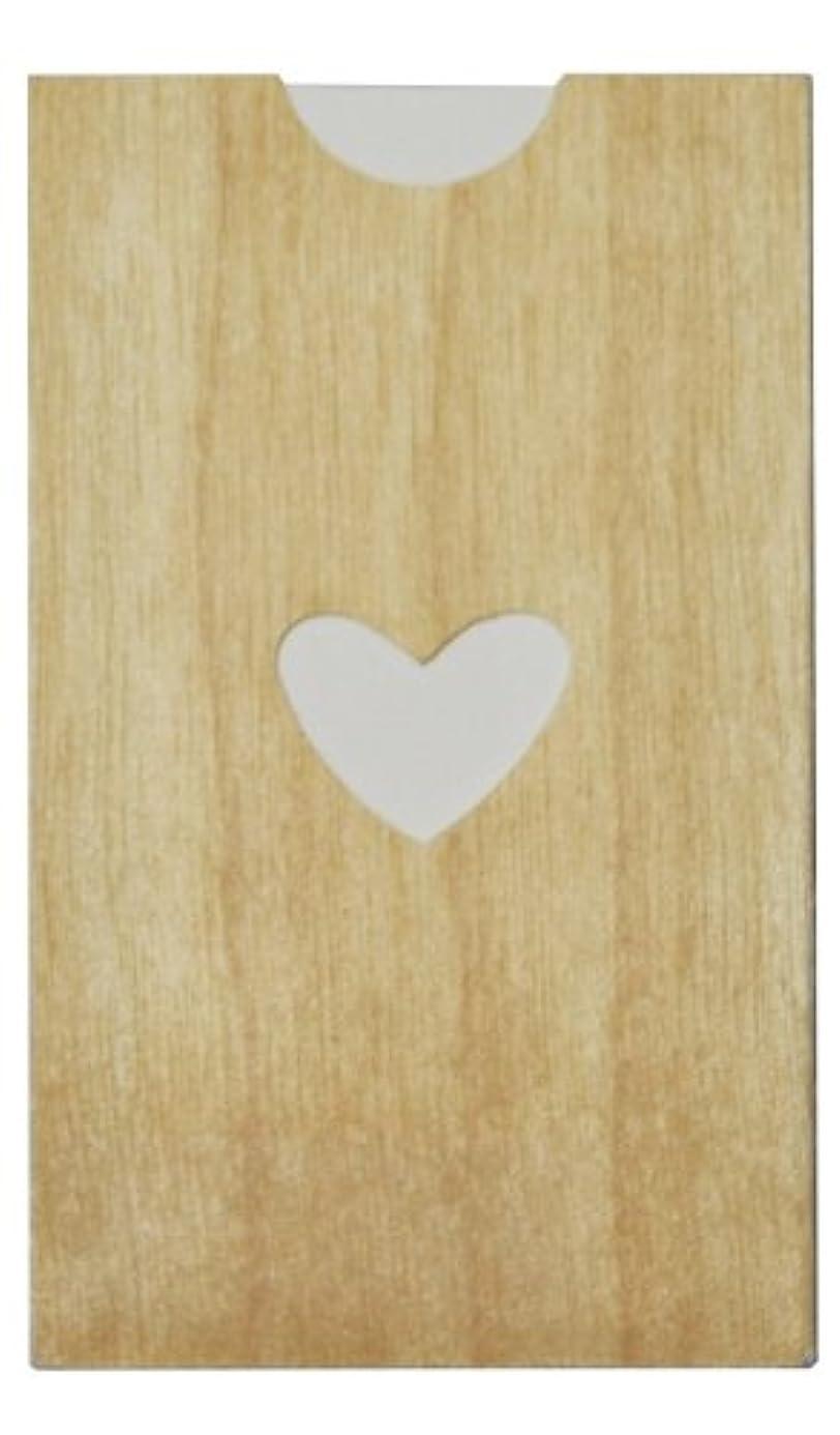 くぼみ海洋の死傷者yuica(ユイカ) 香りのカード /ハート(ヒノキのシートケース+ムエット紙10枚)