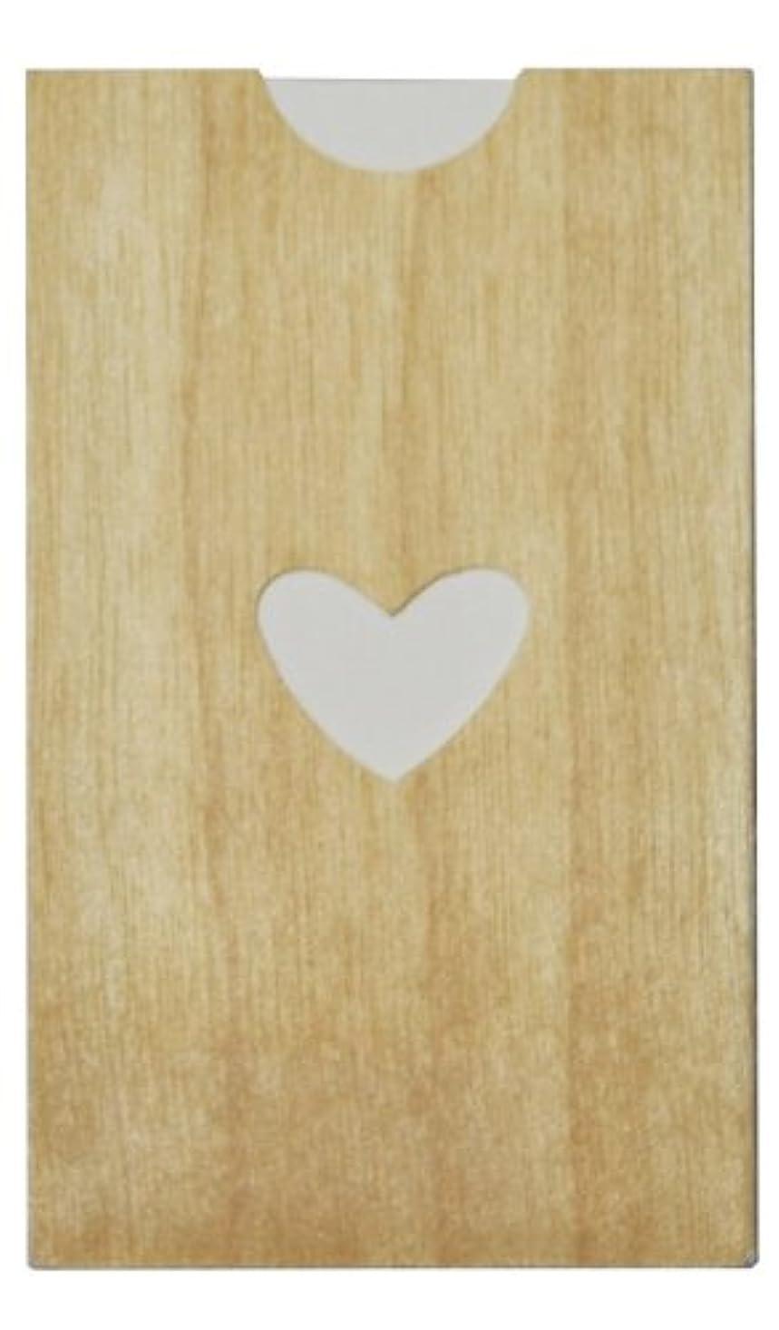 養うバングラデシュ影響力のあるyuica(ユイカ) 香りのカード /ハート(ヒノキのシートケース+ムエット紙10枚)
