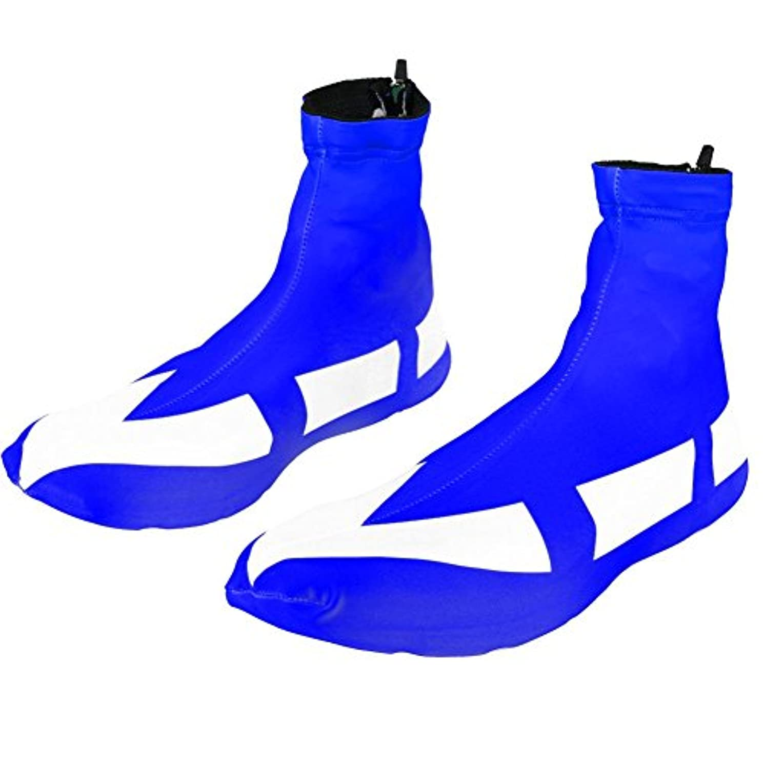 反抗母適性vgeby 1ペア自転車靴カバー、アウトドアスポーツ自転車靴カバー防風防塵Overshoes背面ファスナー付き