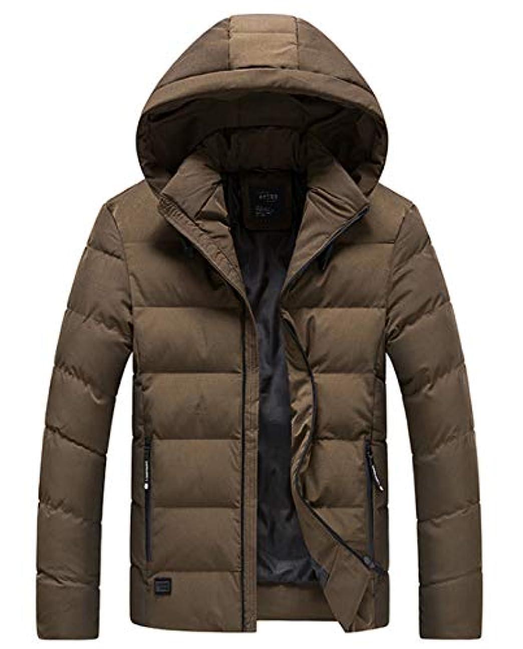 無実メンタリティしかしAPTRO(アプトロ)メンズ ダウンコート ダウンジャケット 中綿ダウン 秋冬コート 分厚い アウターコートフード着脱可 暖かい 撥水 防寒コート