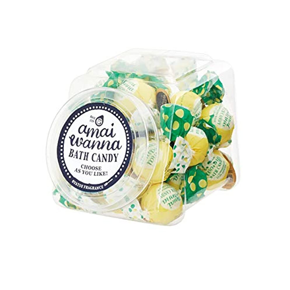 オフ局ナプキンアマイワナSP バスキャンディーポットセット24粒入り(ママのゆずジンジャー バスギフト キャンディーの形の入浴料 大人可愛い)