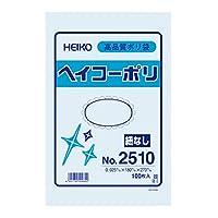 HEIKO ポリ袋 透明 ヘイコーポリエチレン袋 0.025mm厚 No.10 100枚/62-0996-63