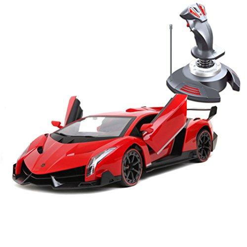 Holy stone 1/14 RC ラジコンカー ランボルギーニ ヴェネーノ 二つバッテリー付き 電子版日本語説明書付き 重力センサ操作 自動デモ機能付き Lamborghini Veneno  レッド