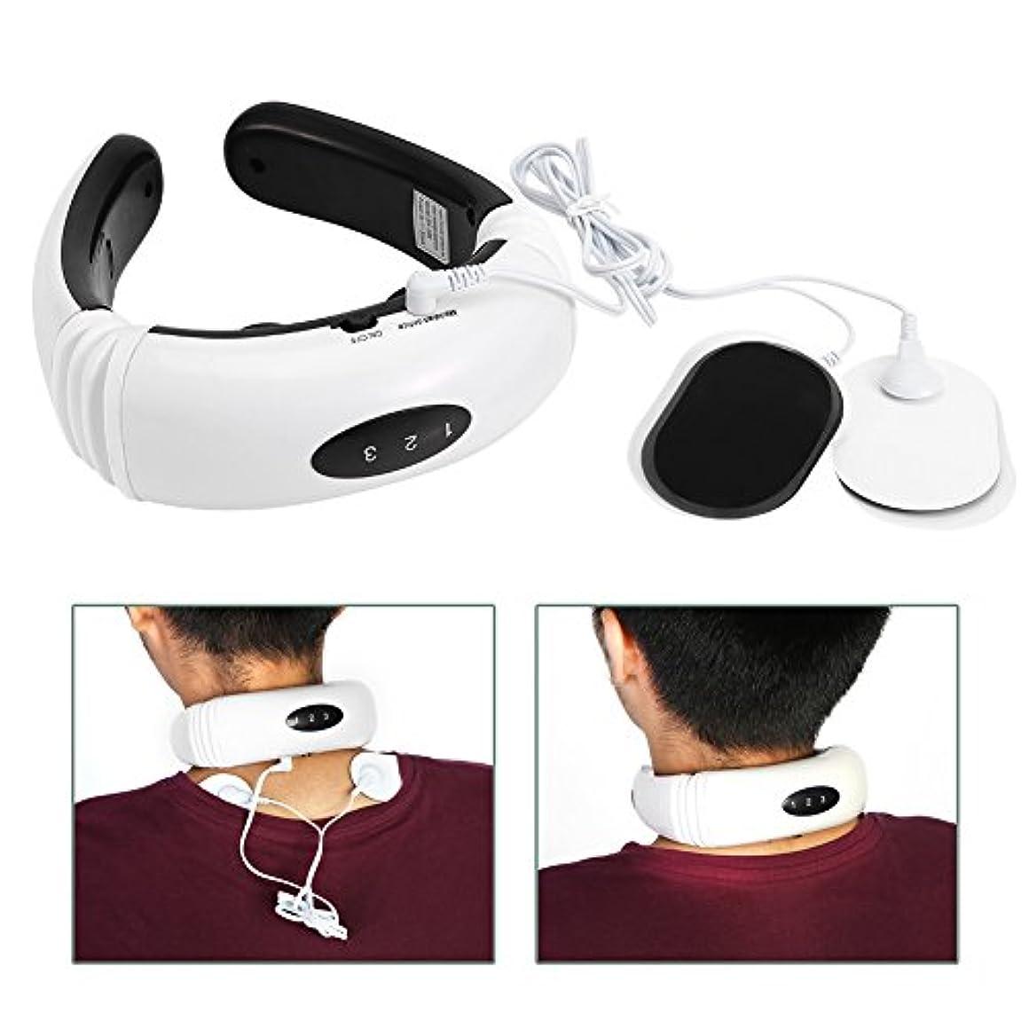 移動するかなり受ける電気首マッサージャー頸椎マッサージ器具