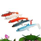 A-szcxtop スイムベイト 淡水海水餌 釣り ルアー 5個 12cm/27g カワカマス・マス・ブラックバス・ シーバス 等のルアーフィッシング、トラウト狙いなどに最適 定番カラー 5色
