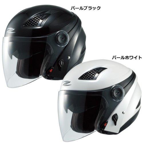 ナンカイ(NANKAI) ZEUS クロノス ジェットヘルメット(インナーバイザー装備) パールホワイト (M) NAZ211WHM