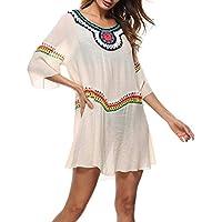 Zhhlinyuan Womens Summer Beach Dress Cover up Bikini Kaftan Swimsuit Casual Sundress for Outdoor Beach Sun Protect