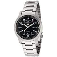 Seiko Men's 5' Japanese Automatic Stainless Steel Casual Watch, Color:Silver-Toned (Model: SNK809K)