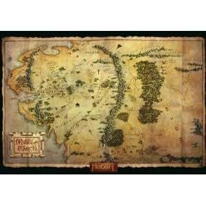 ホビットポスター:ミドルアースマップ(98cmx68cm)The Hobbit Poster: Middle Earth Map