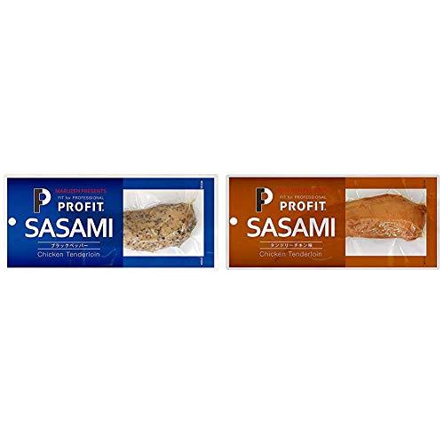 【セット買い】丸善 PプロフィットSASAMI ブラックペッパー 1本×10個 & PプロフィットSASAMI タンドリーチキン味 1本×10個
