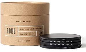 Gobe 77mm UV + Circular Polarizing (CPL) Lens Filter Kit (2Peak)