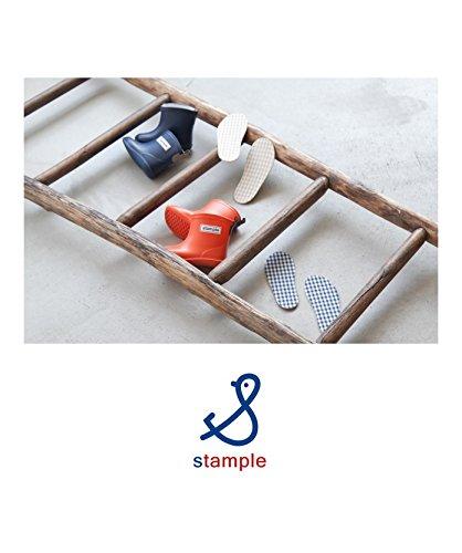 [71577] stample(スタンプル) キッズチェック柄インソール(中敷)/シューズ・レインシューズ長靴 サイズ 18.0 50.NV(NAVY)
