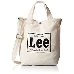 [リー] ショルダーバッグ コットンキャンバス(帆布) 2WAYトートバッグ 320-241 83 Amazon限定色 ホワイトコットン×ブラックプリント