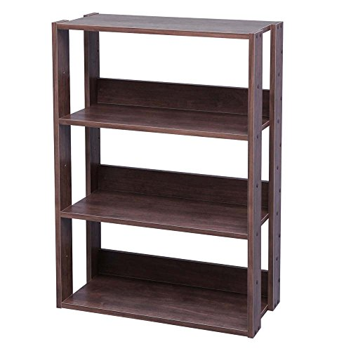 アイリスオーヤマ オープン ラック 木製 3段 幅60×奥行29.2×高さ8...