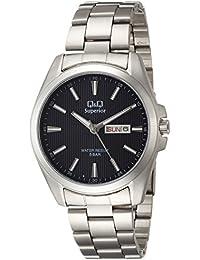 [シチズン キューアンドキュー]CITIZEN Q&Q 腕時計 SUPERIOR ステンレス モデル アナログ カレンダー 表示 ブレスレット ブルー S284-212 メンズ